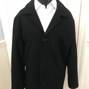 Kenneth Cole Black Pea Coat